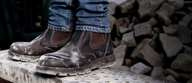 zip side work boots