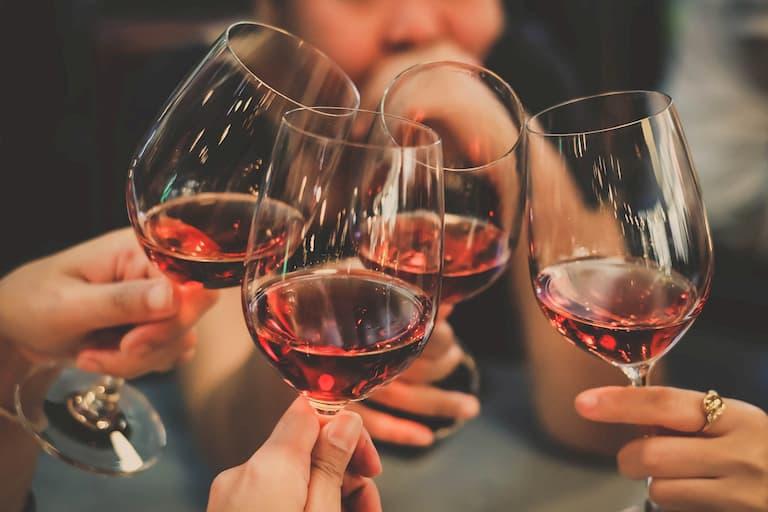 people drinking biodynamic wine