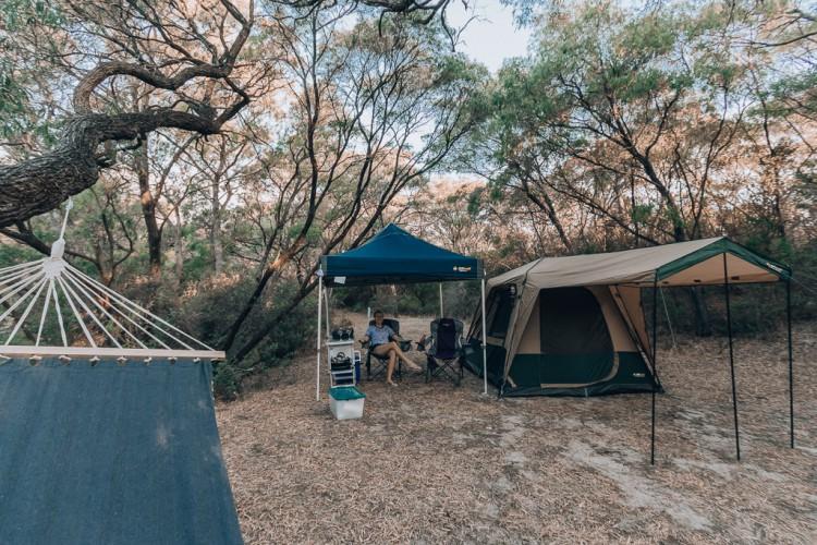 Best Camping Setup in Woods Camping Gazebo