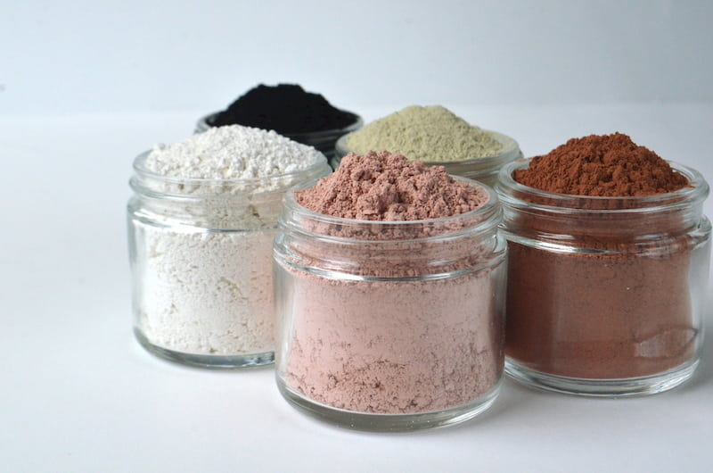 powder clay masks