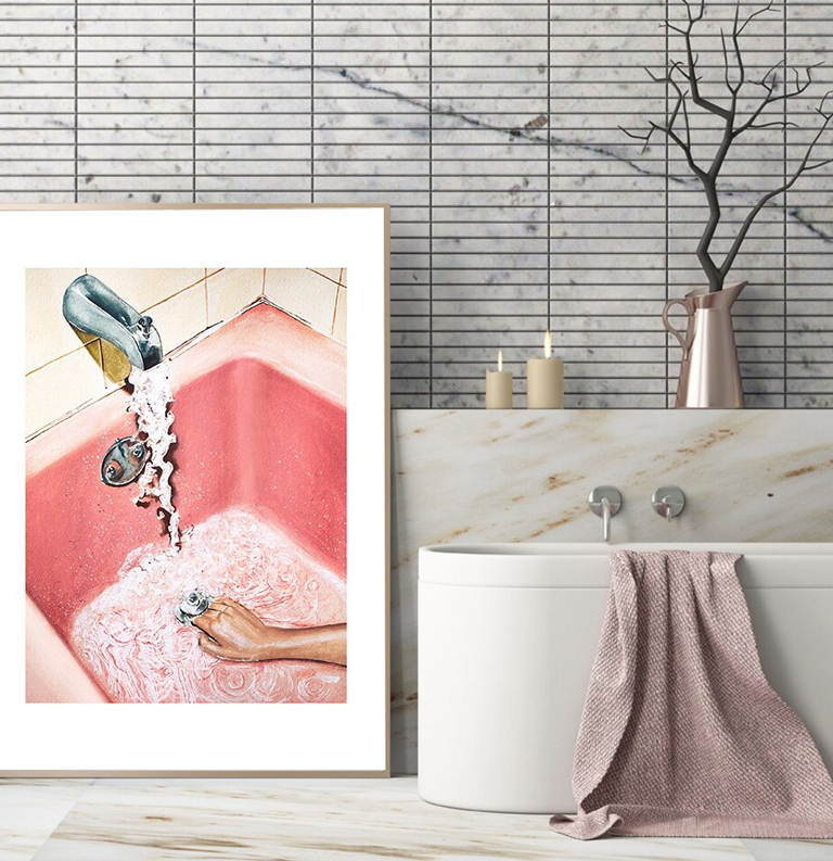 art posters bathroom