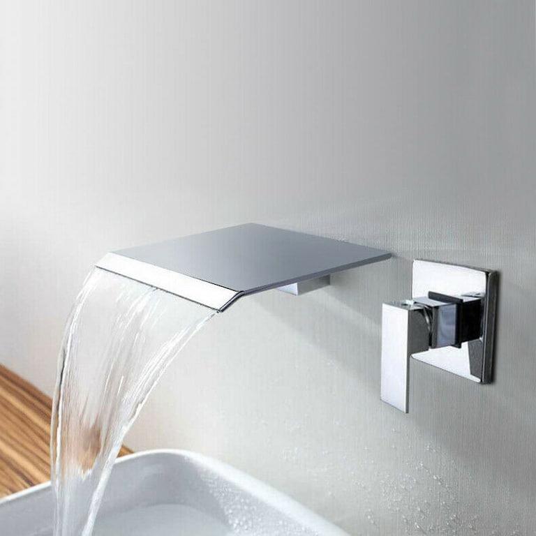 wall mounted waterfall sink