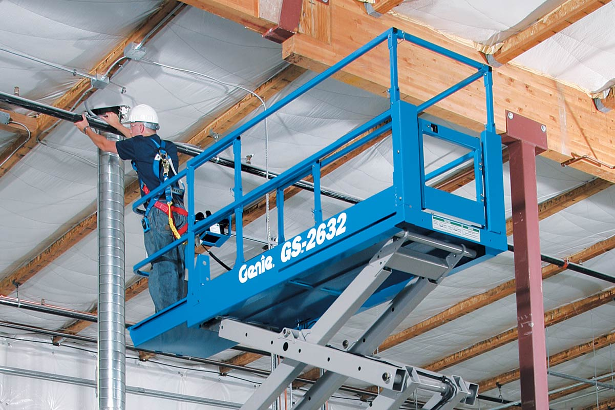 man working on a Scissor Lifts