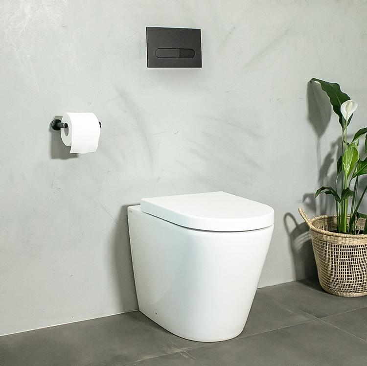rimless toilet suite white