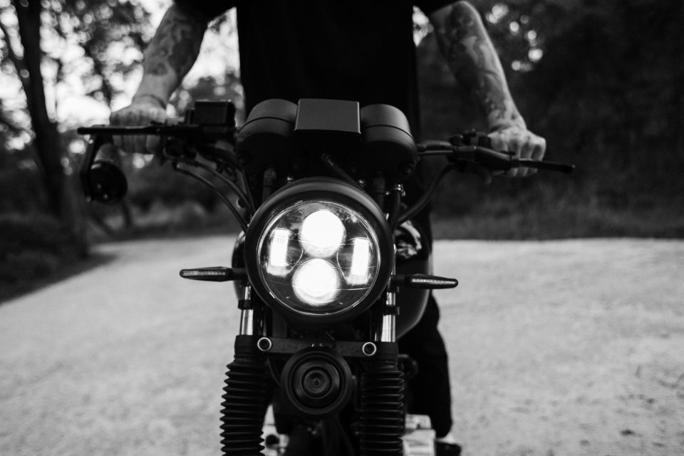 motorcycle controls and light