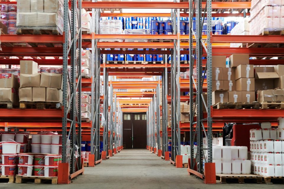 warehouse storage shelving system