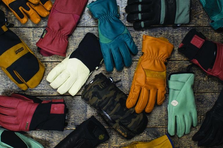 Different men's snowboard gloves