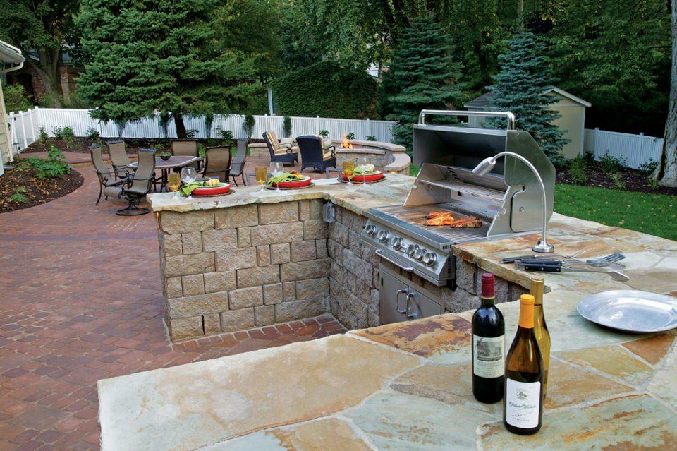 Kitchen backyard