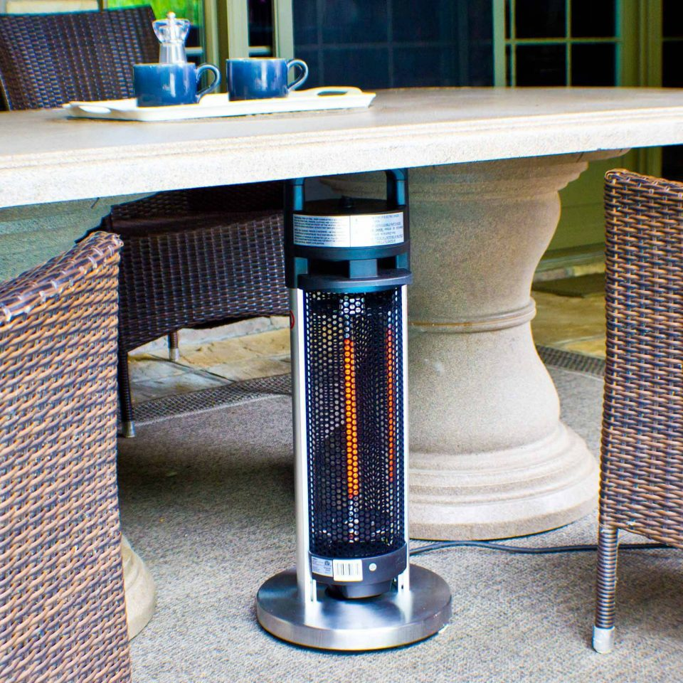 Under the table electic infrared heater