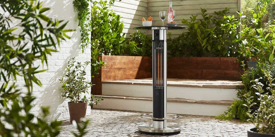 infrared heater table